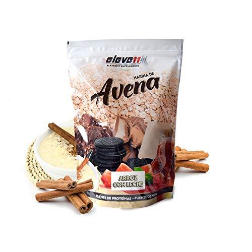 NATRULY Harina de Avena Sabor Vainilla, BIO Avena en Polvo Sin Azúcar, Sin Gluten, 1 KG (antes  )