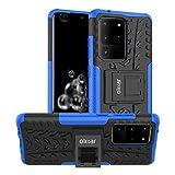 Olixar Funda para el Samsung Galaxy S20 Ultra - Estuche Militar - Outdoor - con Soporte - Funda Armadura – Doble Capa ArmourDillo - Color Azul