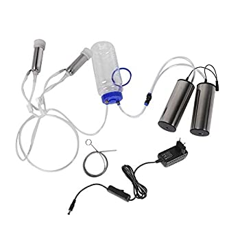 Electric Milking Machine Kit Portable Stainless Steel Milker with 2 Pumps & Brush 2L Minitype Milker Machine for Goat Cow  100-240V  Cow US Plug