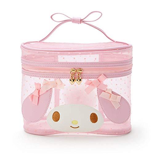 Cute transparent transparent makeup storage box kawaii pink mesh cosmetic bag beauty box storage box cosmetic bag-My Melody