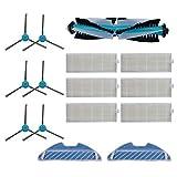 tellaLuna Principal rodillo lado cepillo hepa filtro piezas de repuesto para cecotec Conga 1290 1390 robot Partes de aspirador Accesorios de repuesto