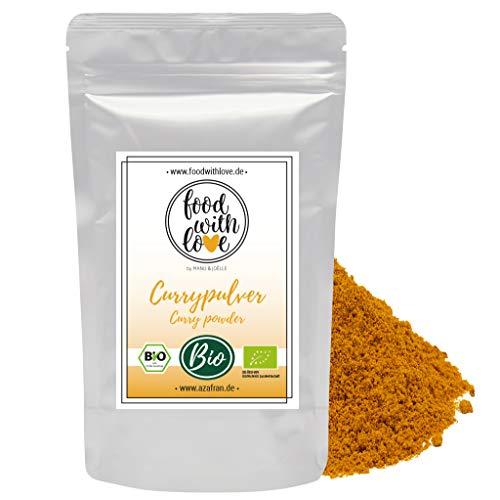 Food with Love BIO Curry Pulver Currypulver indisch Madras Richtung mild 250g