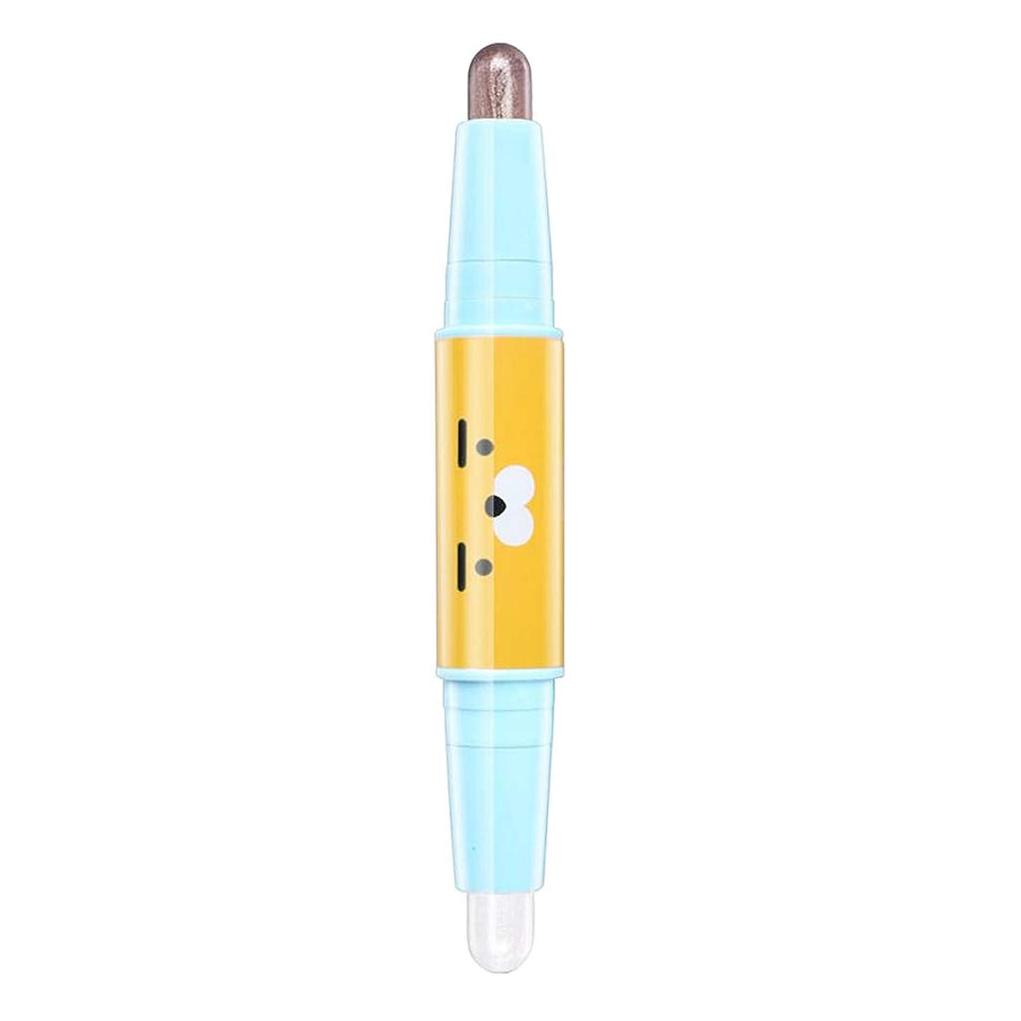 独立したイライラする確かにB Blesiya アイシャドウ 3Dアイペン デュアルヘッド ハイライター アイメイク 魅力的 6色選べ - 05