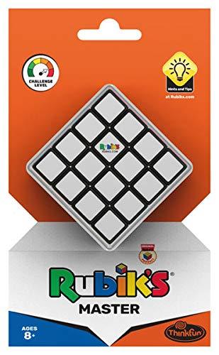 Thinkfun Rubik's Master, Zauberwürfel im 4x4 Format, größere Herausforderung als der original Rubik's Cube 3x3, Denkspiel für Erwachsene und Kinder ab 8 Jahren