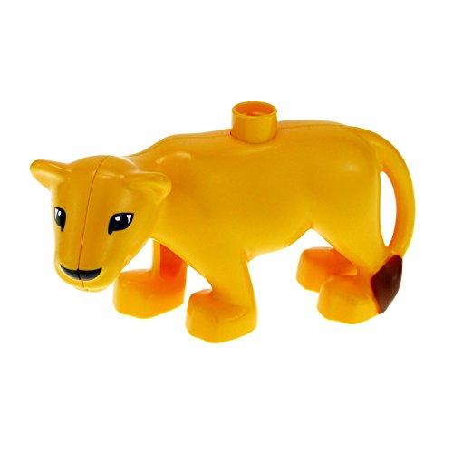 1 x Lego Duplo Tier Löwin orange gelb Löwe Zirkus Tierpark groß Katze für Set Stadt Zoo 6157 53908pb01