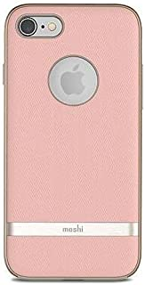 Moshi Vesta for iPhone 8/7 - Protective Fabric Case, Military-Grade Drop Tested, Resists Dirt and Scratches,Wireless Charging - Blossom Pink
