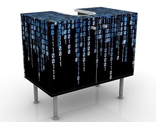 Apalis Waschbeckenunterschrank Binärischer Code 60x55x35cm Design Waschtisch, Größe:55cm x 60cm