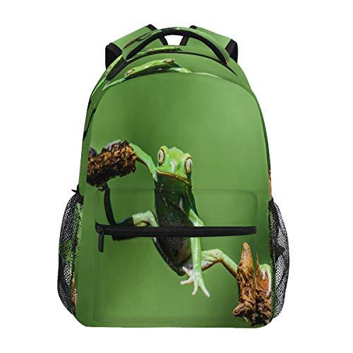 LUCKYEAH Mochila de árbol de ranas de animales para la escuela, para adolescentes, niñas, niños, mochila para viajes, camping, gimnasio, senderismo