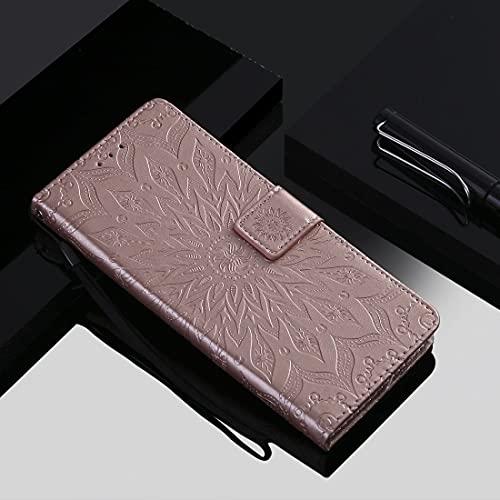 PHONETABLETCASE+ / for XIAOMI Redmi Note 9 / Redmi 10x Patrón de girasol en relieve 4G Funda de cuero Horizontal Flip PU con soporte y ranuras tarjetas y CINDADOR Protección de la cubierta de la cubie