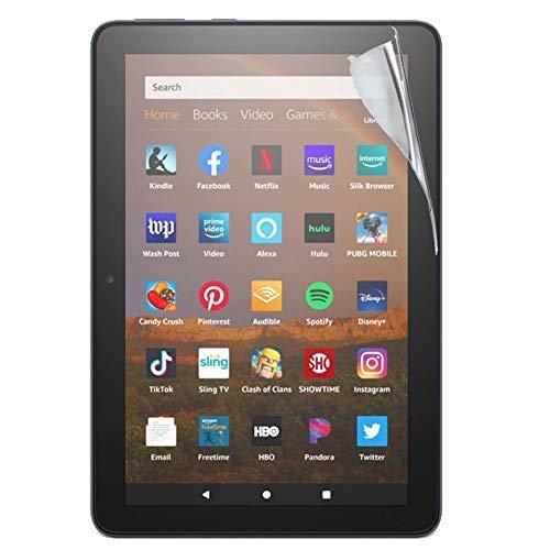 TECHGEAR Bildschirmschutz für Amazon Fire HD 8 / HD 8 Plus 2020 (8,0 Zoll) Folie - Ultra Klare Film Schutzfolie für Kindle Fire HD 8 10. Generation 2020 [HD8 2020]