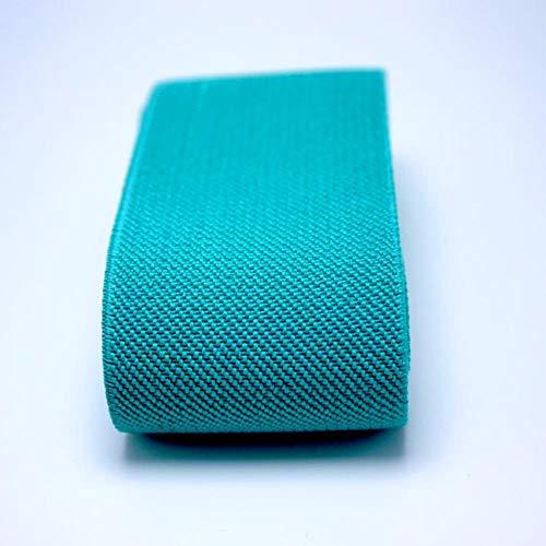 5CM Brede hoge Kwaliteit Duurzame Broek Rok Riem Kleur Elastische Band/Twill Elastische Tape Latex Elastische Tape Rubber Band 50mm Green lake