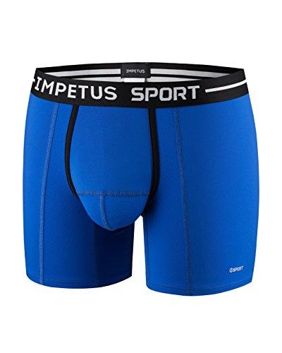 Impetus Herren Boxershorts, Schwarz Gr. L, blau