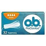 o.b. , Assorbenti Interni, ProComfort Super, Flusso Intenso, Inserimento e Rimozione Facile, 3 Confezioni da 32pz