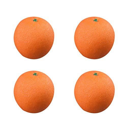 EQLEF® Simulación de la fruta, frutas artificiales naranja para la decoración (4pcs naranja)