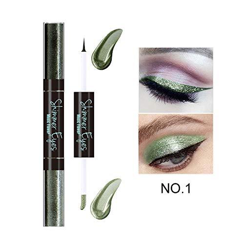 Lápiz delineador de ojos a prueba de agua, 6 colores a prueba de agua, de larga duración, lápiz de delineador de ojos, lápiz, delineador de ojos, herramienta de maquillaje(verde)