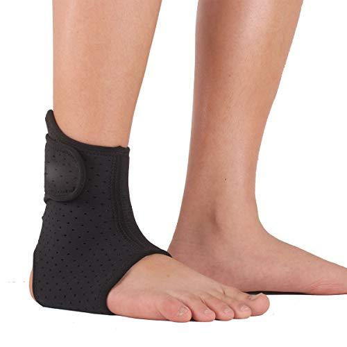 N /A QJYAS Tobillera de compresión Compresión sin Mangas Tobillo de tendón de Aquiles Lesión de la articulación del ligamento Vaina del Tobillo Utilizado para Correr y Caminar en Deportes (Solo)
