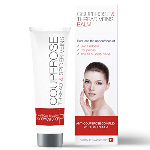 Swissforce Couperose Creme gegen Rötungen im Gesicht 30 ml - Vorbeugende Rosacea Creme Gesicht
