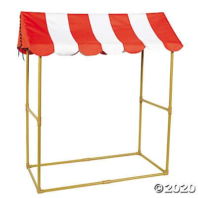 Big Top Circus Tabletop Booth Tent (almost 4 feet tall) Carnival Party Decor