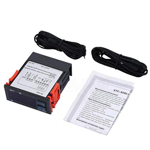 Kuinayouyi STC-9200 Controlador de Temperatura Digital Termostato Regulador Termorregulador con Ventilador de DescongelacióN de RefrigeracióN