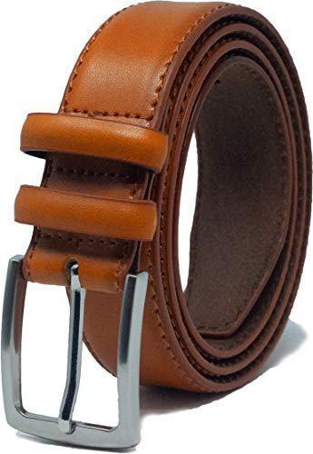 Ashford Ridge Cinturón de cuero con doble bucle para hombre de 33 mm Marrón XL