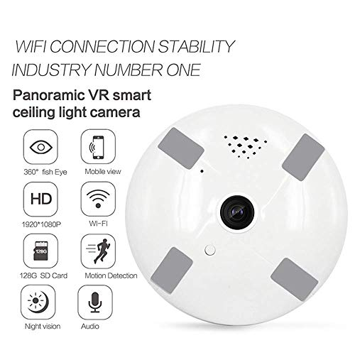 360 deg;Panorama Wireless Camera VR wifi HD intelligent netwerk monitoring Camera voice intercom met bewegingsdetectie-functie, for een kind/Dier/Elder HAOSHUAI