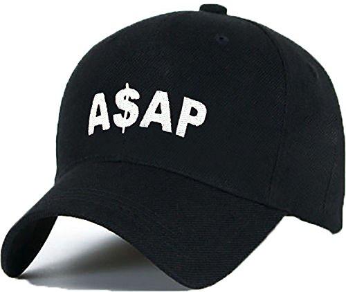 Bonnet Casquette Snapback Baseball ASAP 1994 Hip-Hop en Noir / Blanc avec les ASAP Bad Hair Day