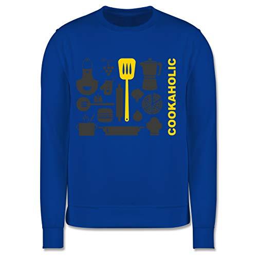 Shirtracer Kleine Köche & Bäcker - Cookaholic - 104 (3/4 Jahre) - Royalblau - Pizza - JH030K - Kinder Pullover