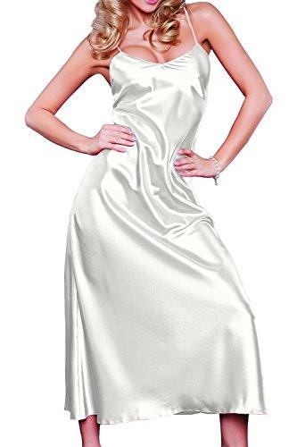 DKaren Damen Nachtwäsche | IGA | aus Satin | Größen XS-2XL 100% Polyester | S Ecru