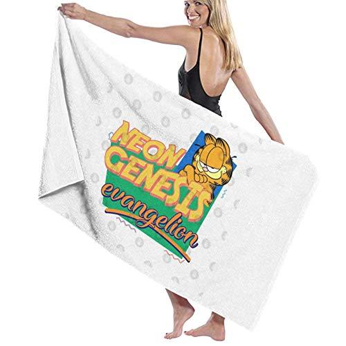 U/K Neon Genesis Evangelion Garfield Memes Toalla de baño de secado rápido
