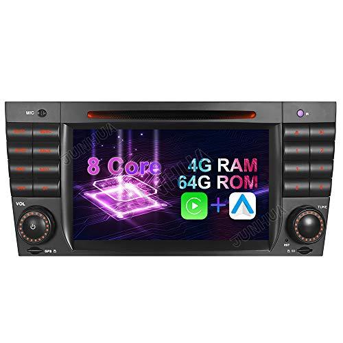 Android 10.0 8-Core, 4GB RAM+64GB ROM, Carplay+ Android Auto DSP 7 Zoll Autoradio Radio DVD GPS Navigation für Mercedes Benz C/CLK KLASSE W203 W209 Bluetooth WiFi SWC DAB OBD 260mm