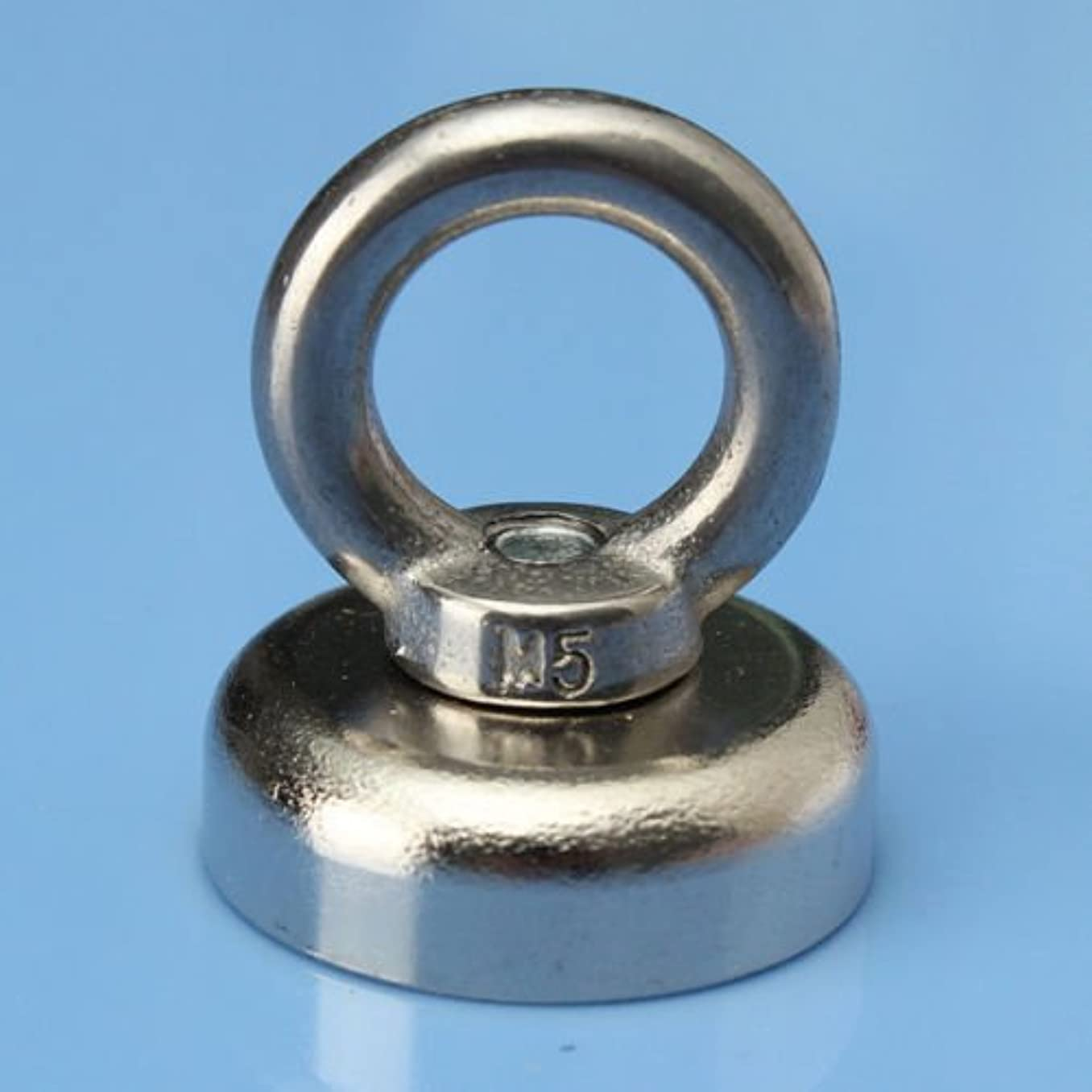 AOMAG Neodymium Hook Magnets Strong Neodymium Eyebolt Circular Rings Magnet - Holds up to 30 Pounds