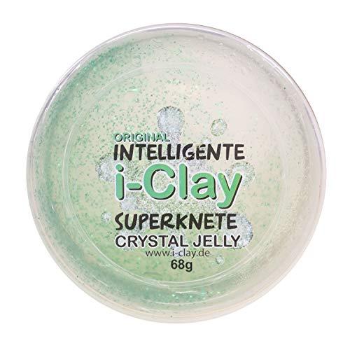 Kögler 59492 - I-Clay, intelligente Superknete Crystall Jelly, 68 g, 6 Farben sortiert