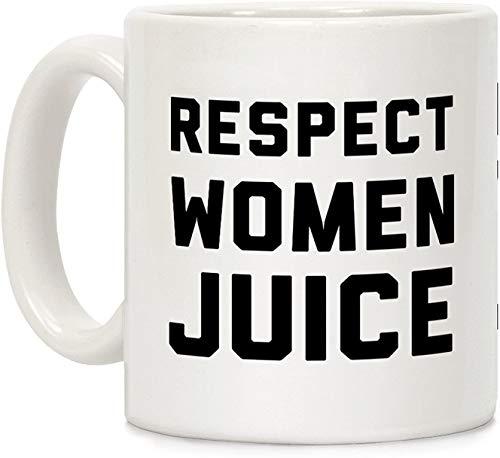Koffie Mok, Thee Beker, Respect Vrouwen Sap Wit 11 Ounce Keramische Koffie Mok