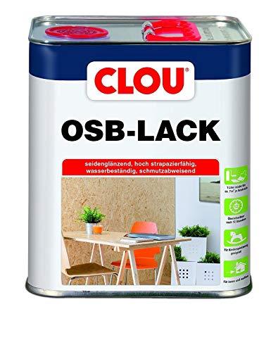 Clou OSB Lack: Seidenglänzender Holzlack zur Versiegelung von OSB-Platten, farbloser Parkettlack, wasserabweisend, 3L