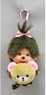 Monchhichi Premium Standard Brown girl tails S size height of about 21.5cm