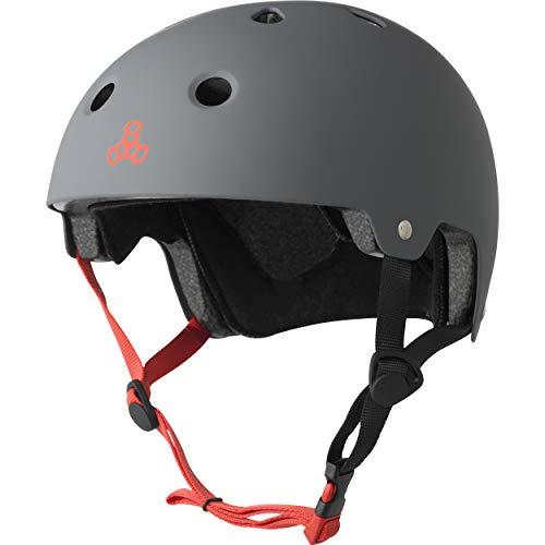 Triple 8 Brainsaver EPS Unisex Rubber Helmet Grey Grey LXL