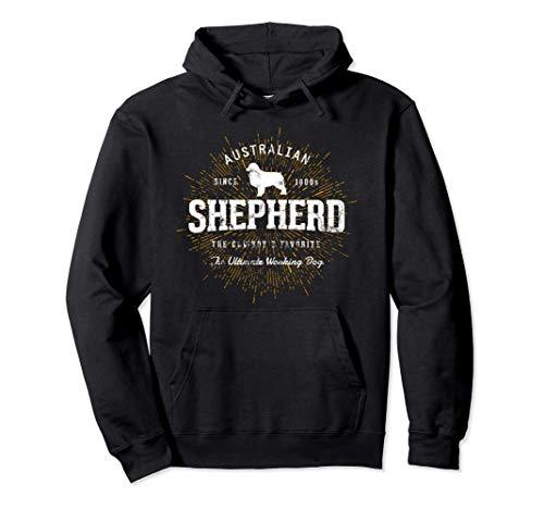 Pastore australiano vintage Australian Shepherd Felpa con Cappuccio