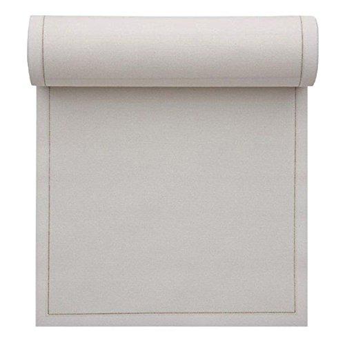 Serviette de table en coton 32x32cm - Rouleau de 12 serviettes - Ecru