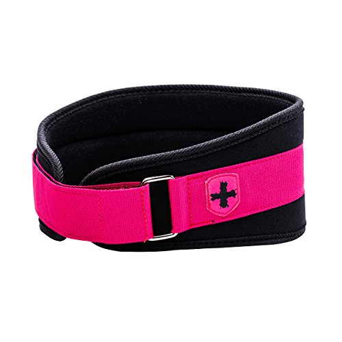 Harbinger Women's Nylon Weightlifting Belt with Flexible Ultralight Foam Core, 5-Inch, Pink, X-Small