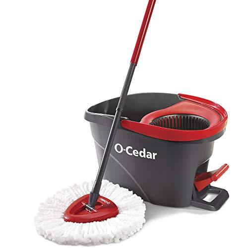O-Cedar EasyWring Microfiber Spin Mop With Bucket