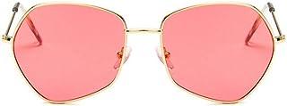 2THTHT2 Lunettes De Soleil pour Femmes des Années 90 Cat Eye Classic Hexagon Sun Glasses Red