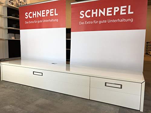 Schnepel S1 Lowboard LB-1 SK Rechts Korpus & Front: Hochglanz Weiß