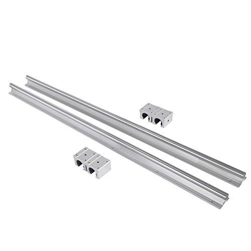 Mophorn Linearführung 2 Sätze SBR20-800mm Gleitführung aus Linearstahl für Maschinen und CNC-Maschinen (SBR20-800mm)