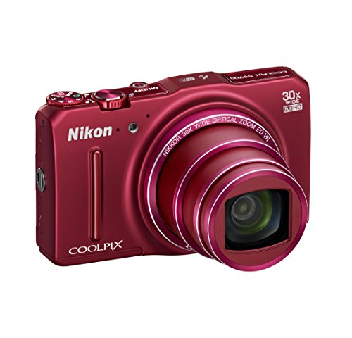 Nikon Coolpix S9700 Fotocamera Digitale Compatta, 16 Megapixel, Zoom 30X, 6400 ISO, OLED 3', Full HD, Wi-FI, Rosso [Nital Card: 4 Anni di Garanzia]