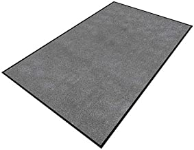 product image for Apache Mills Charcoal Yarn/PVC, Entrance Runner, 3 ft. Width, 10 ft. Length - 0105617013x10