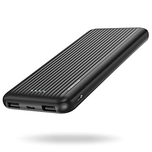 Power Bank 10000mAh,undreem Powerbank USB C mit 2 Ausgängen 5V/2.4A,Kleine und Kompakte Externer Akku mit Micro, Handy Ladegerät Leicht Compact Externer Batterie für iPhone,Samsung,Huawei