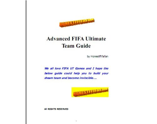 FIFA 13/12/11 Ultimate Team Paper Guide (English Edition)