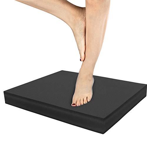 hongyupu Balance Board Wobble Cushion Stability Disc Wobble Board Balance Ball Trainer Yoga Balance Trainer Balance Disc Round Wobble Board black,freesize