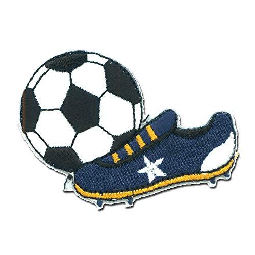 Parches - fútbol bota de fútbol deporte - blanco - 6x4,3cm - termoadhesivos bordados aplique para ropa