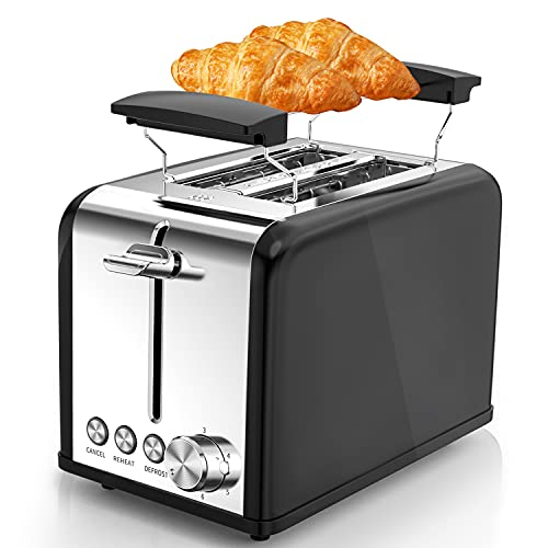 Tostapane, Morpilot Tostapane 2 Fette Toaster, 6 Impostazioni di Tostatura, Bagel, Scongelamento e...